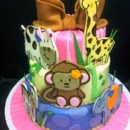 130x130 sq 1408555614710 animal baby shower cake
