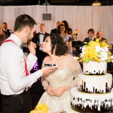 220x220 sq 1498184772878 0963ash with bride  groom cake