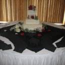 130x130 sq 1220373071381 reception caketablew blktopper