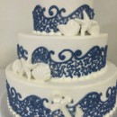 130x130 sq 1459908527145 beach navy lace wave design with white shells