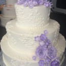 130x130 sq 1459908559408 hand piped lace and purple sugar flowers