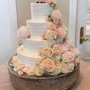 130x130 sq 1502850442 db666134937d46cb 1459908650016 soft lined texture four tiers with fresh flowers