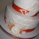 130x130 sq 1365355766105 chanda wedding cake...april 6 2013 016