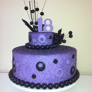 130x130 sq 1379914461829 purple cake 4