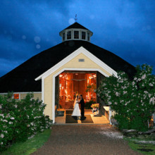 220x220 sq 1377554595087 barn lit up at dusk during reception