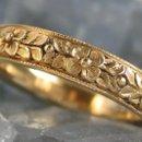 130x130 sq 1218751841622 handcraftedbridaljewelry14kgoldflowerring