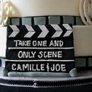 130x130 sq 1317961693285 moviegroomscakeclapboard