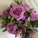 130x130 sq 1416536827683 bridal bouquet with hot pink roses hydrangeas and