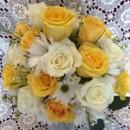 130x130 sq 1416540795658 yellowwhiterosesdaiisieswaxflowers