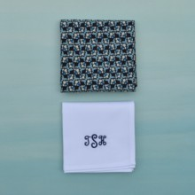 220x220 sq 1427759834397 blue mens handkerchief  monogramed white handkerch