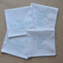 220x220 sq 1429038896209 mother of the bride  groom embroidered handkerchie