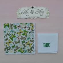 220x220 sq 1429039010371 mr  mrs wedding handkerchiefs monogram v2
