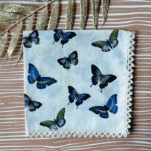 220x220 sq 1429039258247 butterfly journey cream wedding handkerchief