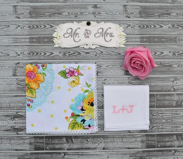 600x600 1428435915773 mr  mrs wedding handkerchiefs monogram