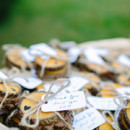 Coasters also served double-duty as favors.  Venue:Lake Eden Events  Event Planner: Jessica Wharton