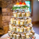 The cupcake tower was not complete without five tiers.  Cake: Leane Catron