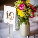 Tables were decorated with white linens and napkins, metallic mason jar centerpieces, and Mad Libs at each place setting for extra entertainment.   Venue/Caterer: BruMar Estate  Floral Designer: Conrad Floral and Swan River Gardens and Nursery