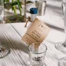 Favors were mini bottles of OJ Liquor.  Invitations: Juting Design Studio from Etsy
