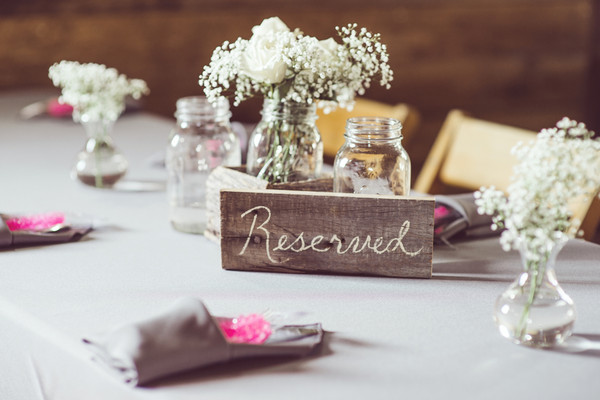 Rustic Barn Centerpiece Centerpieces Indiana Indoor Reception Rose ...
