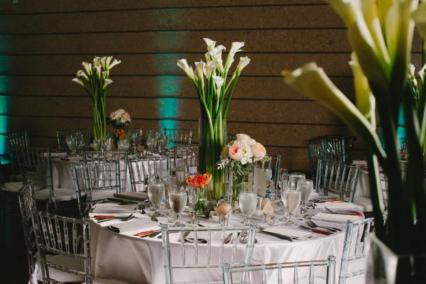 Modern White Calla Lily Centerpiece Centerpieces Fall Florida Indoor ...