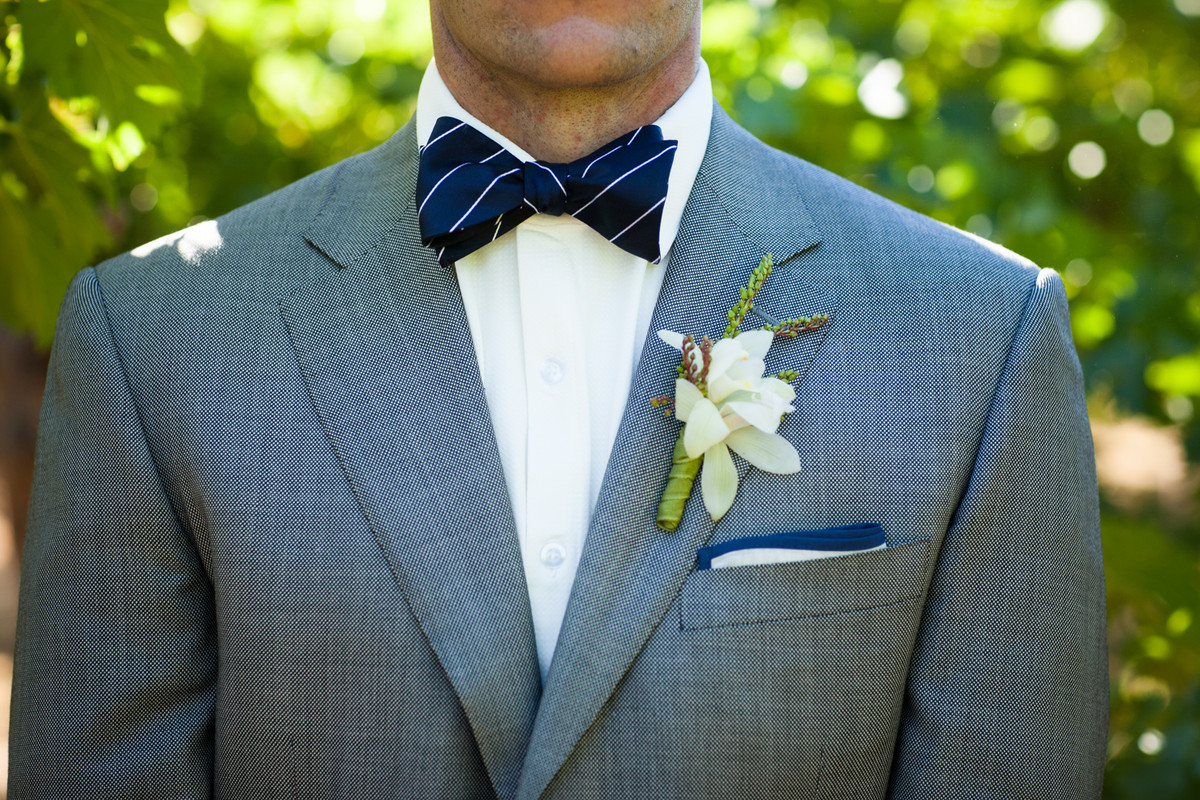Blue Gray Ivory Boutonniere California Summer Vineyard Wedding ...