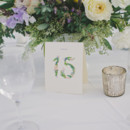 Numbers were inspired by Rifle Paper Co.   Venue: Bella Collina Towne and Golf Club  Event Planner: The Romance Between  Rentals: Atlas Party Rentals  Floral Designer: Emblem Flower