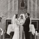 The couple said their vows inside the gorgeous Mount Saint Academy church.  Venue:Knoll Country Club  Dress Designer:Casablanca  Hair and Makeup Artist: Dollface by DG
