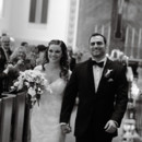 The couple was all smiles during the recessional!  Venue:Knoll Country Club  Dress Designer:Casablanca  Hair and Makeup Artist: Dollface by DG  Floral Design:Kingsland & Franklin Floral