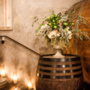 The staircase was lit with candles.  Venue:Viansa Winery  Event Planner: Jessica Della Santina  Floral Designer:Lavender Floral