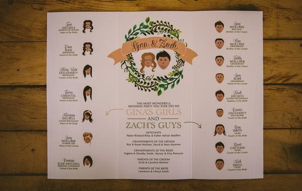 ceremony programs michigan summer wedding invitations photos