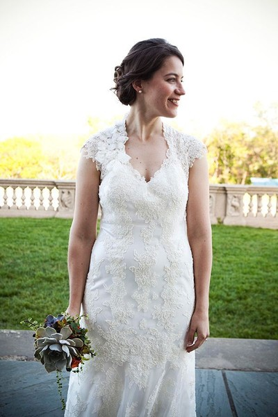Fit-n-Flare Lace Massachusetts Spring Wedding Dresses Photos ...