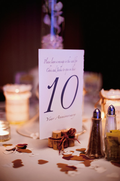 Guests were asked to write pieces of advice for the newlyweds to read on various anniversaries.   Reception Venue: Versailles Ballroom at the Ramada of Toms River