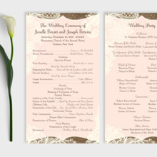 220x220 sq 1456529040512 wedding program   rustic