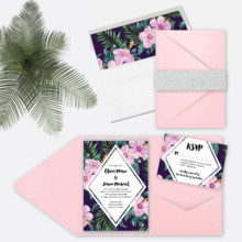 220x220 sq 1463678804798 pink hibiscus wedding invitation