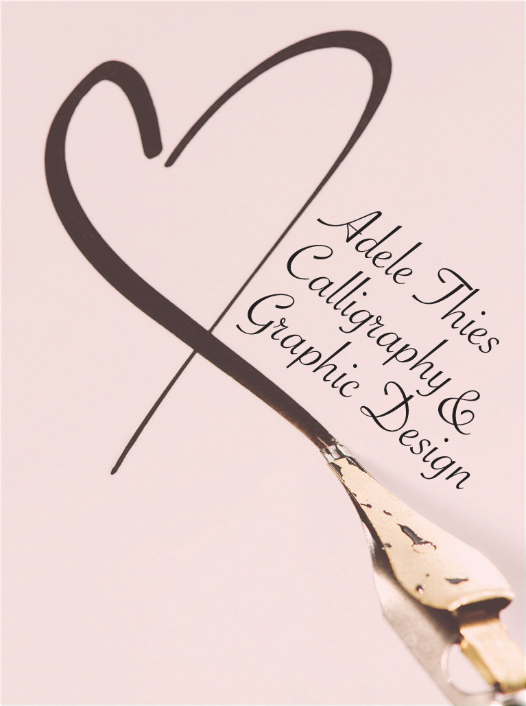Adele thies calligraphy and graphic design invitations Calligraphy baltimore