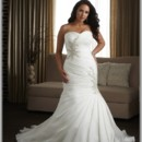 130x130 sq 1434721743219 plus size wedding mermaid dresses