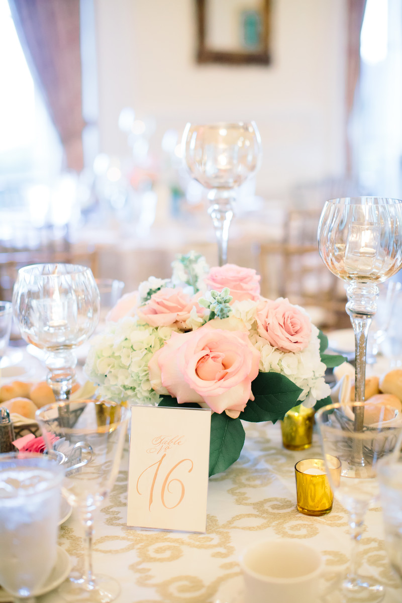Hollywood Glam Pink White Centerpiece Centerpieces Historic Site