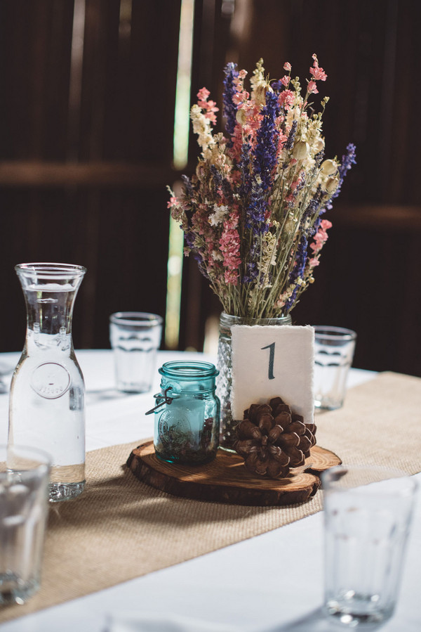 Boho Chic Rustic Shabby Centerpiece Centerpieces Country Fall Ohio Wedding Flowers Photos Pictures