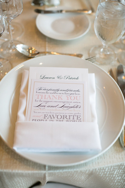 Thank You Notes Were Tucked Neatly Into Folded Napkins At Each Setting Reception Venue