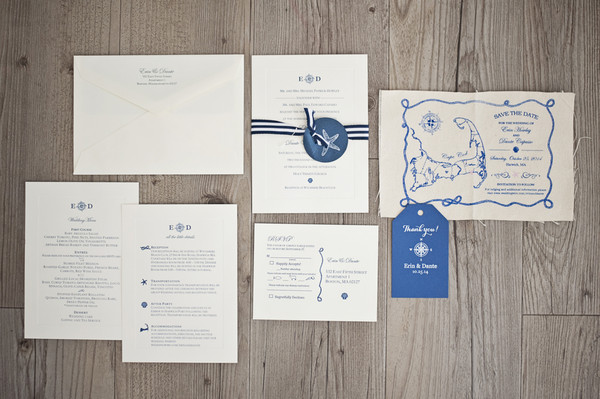 Classic formal nauticalpreppy blue country club fall invitations the save the dates invitations ceremony programs day of solutioingenieria Image collections