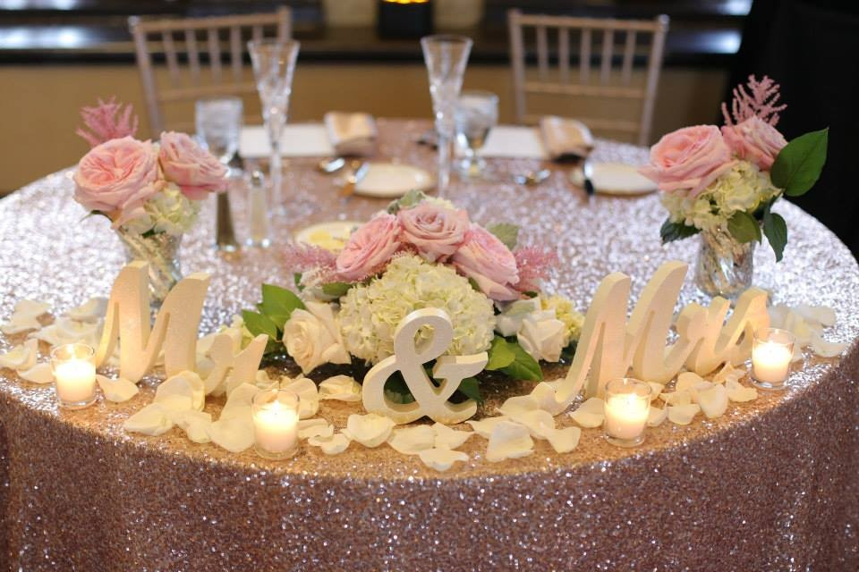 Hollywood Glam Green Pink White Ballroom Centerpiece