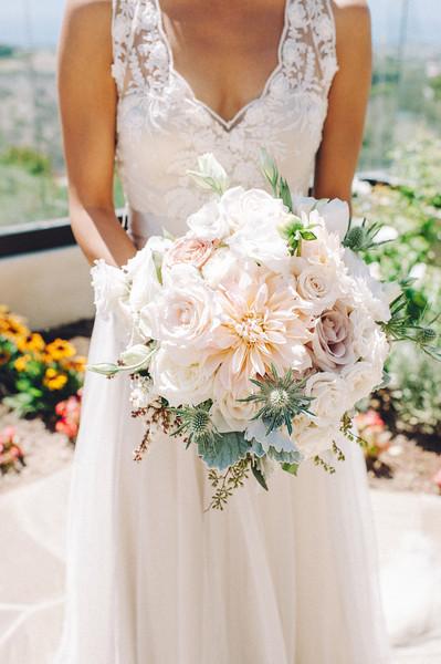 Romantic Shabby Chic Bouquet Country Club Dahlia Greenery Rose ...