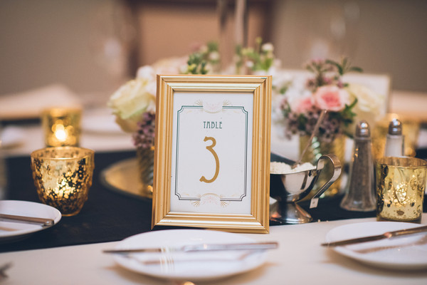 Hollywood Glam Gold Ballroom Connecticut Spring Table Numbers ...