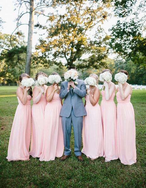 Classic Romantic Gray Pink Barn Country Georgia Summer Wedding Real ...