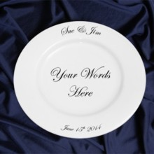 220x220 sq 1446751396292 printed porcelain wedding plate gift dinner plate