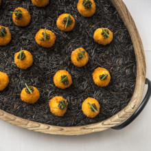 220x220 sq 1483996583390 menu   lemon arancini with caviar canape