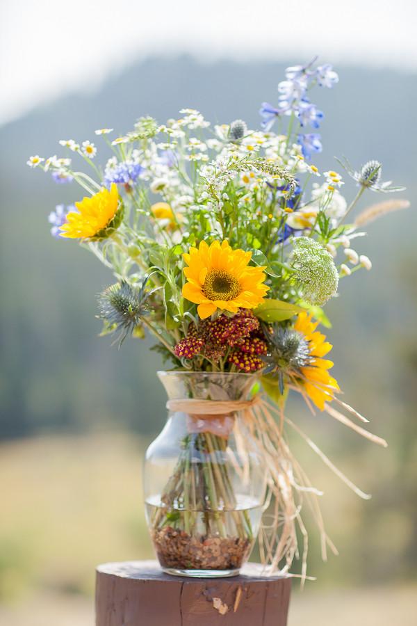 Aisle Markers Colorado Decor Outdoor Ceremony Wildflower Wedding