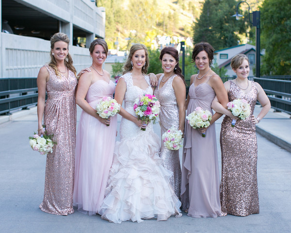 Hollywood Glam Gold Pink Beading Floor South Dakota Summer V-neck ...