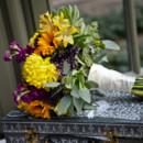 130x130 sq 1424378002045 messy round yellow and purple bridal bouq