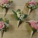 130x130 sq 1424378674219 pink and white boutonnieres vintage